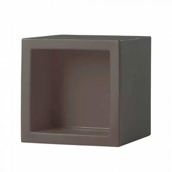 Estantería de color de cubo Slide Open Cube de diseño moderno hecho en Italia
