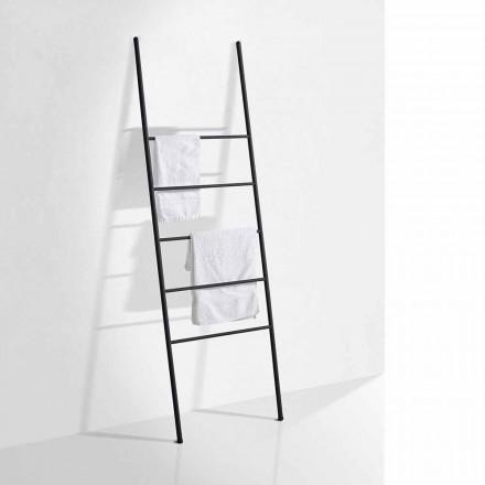 Escalera de toalla de diseño moderno en metal blanco o negro - Oppalà