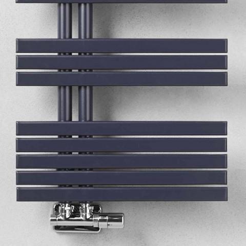 Calentador de toallas de baño de diseño moderno en acero a 386 vatios - Pavo real