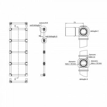 Calentador de toallas modular hidráulico Tubo de latón Dorado 311 W - Caesar