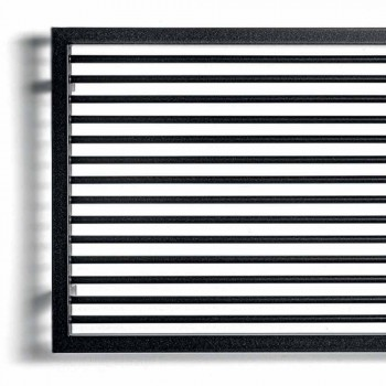 Calentador de toallas hidráulico horizontal en acero grafito - Shadow by Scirocco