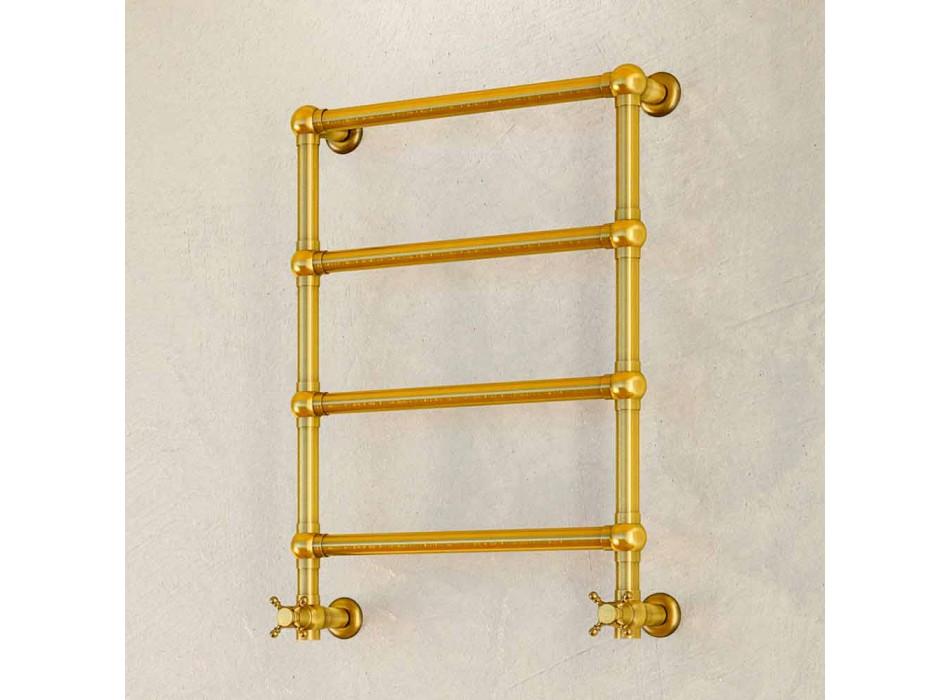 Calentador de toalla chapado en oro Scirocco H Caterina en latón fabricado en Italia