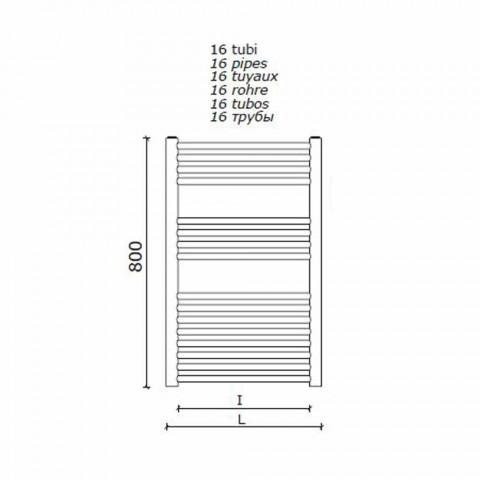 Calentador de toallas de pared de diseño de acero inoxidable para baño, 2 tamaños 391 W - Italo