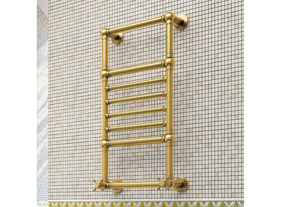 Toallero de latón dorado Scirocco H Amira eléctrico hecho en Italia