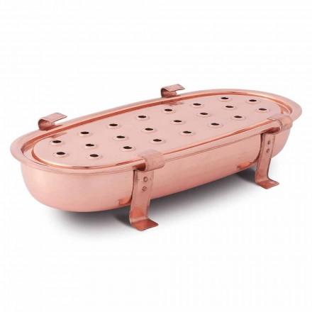 Plato de mesa para ollas de cobre Made in Italy 45x23 cm - Mariaelena