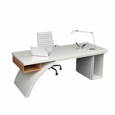 Escritorio oficina de madera y Solid Surface® modelo Bridge