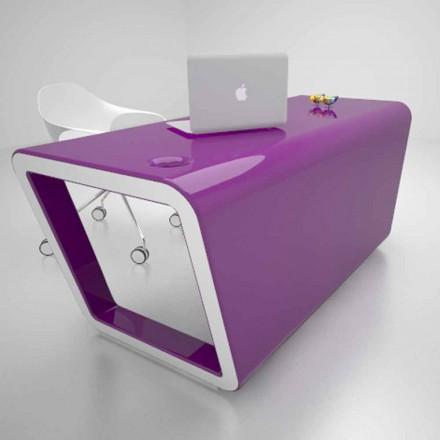 Escritorio de diseño de Solid Surface® fabricado en Italia Ego