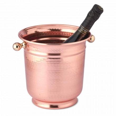 Cubitera para hielo con diseño de vino en cobre pulido o verde 20 cm - Gennarino