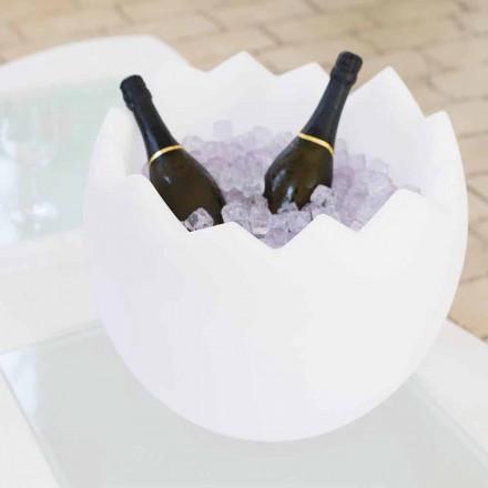Cubo de hielo blanco brillante Slide Kalimera, hecho en Italia