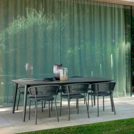 Silla de jardín Moon Alu de Talenti, con aluminio y cordón sintético