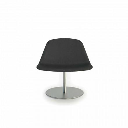 Silla moderna de oficina con base redonda Llounge by Luxy, hecha en Italia