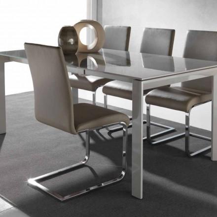 Silla de comedor de diseño moderno, dulce, con estructura de metal.