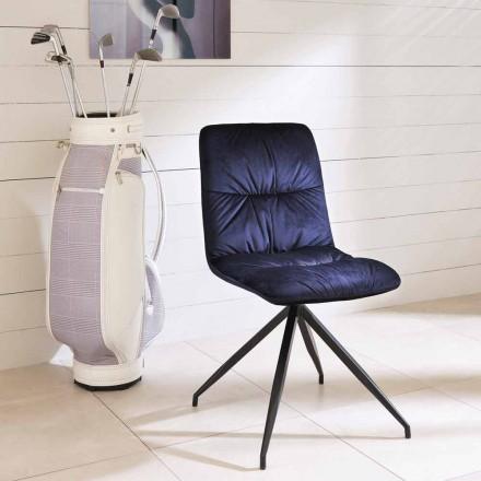 Silla de diseño moderno tapizada en tela de Chiara