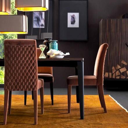 Silla de salón tapizada de madera maciza Grilli Zarafa hecha en Italia, 2 piezas