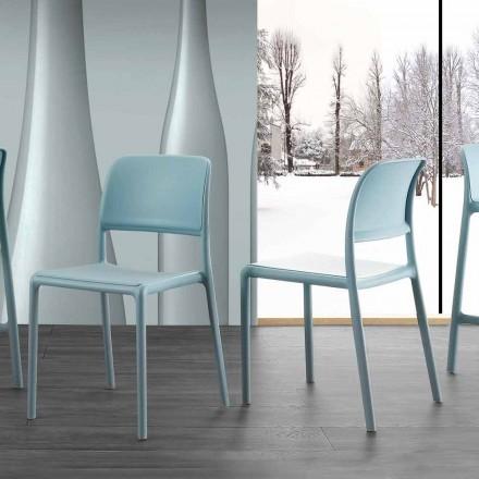 Silla de diseño moderno en resina y fibra de vidrio, made in Italy Holiday