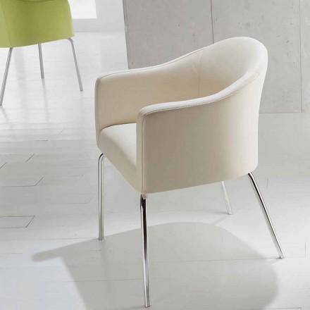 Silla de cuero sintético de diseño moderno Costello