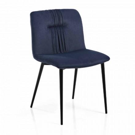 Silla Monocasco en Tela de Colores y Diseño de Metal Negro 4 Piezas - Florinda