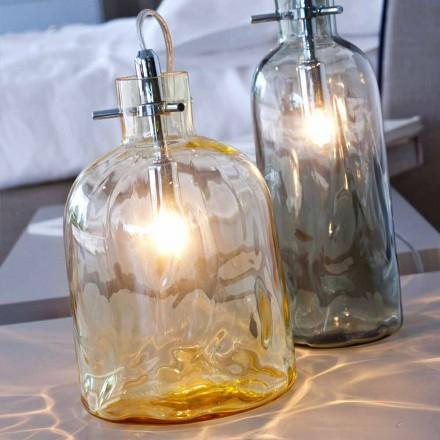 lámpara de mesa Selene Bossa Nova Ø15 H 21cm en ámbar vidrio soplado