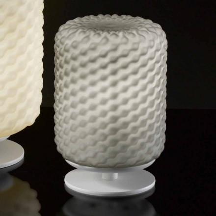 lámpara de mesa Selene Domino Ø15 H22cm, hecho a mano vidrio soplado