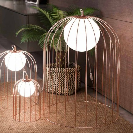 Selene Kluvì de la lámpara de mesa de diseño en vidrio soplado Ø54 H 70cm