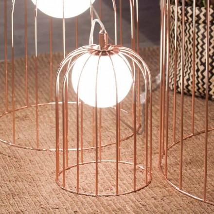 Selene Kluvì lumetto soplado de vidrio y metal Ø19 H 27cm