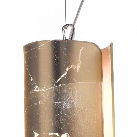 Selene Papiro moderna lámpara colgante de cristal Ø15 H 125cm
