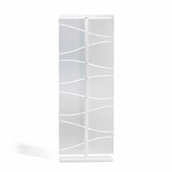 Cabina de diseño moderno en metacrilato blanco satén Mara