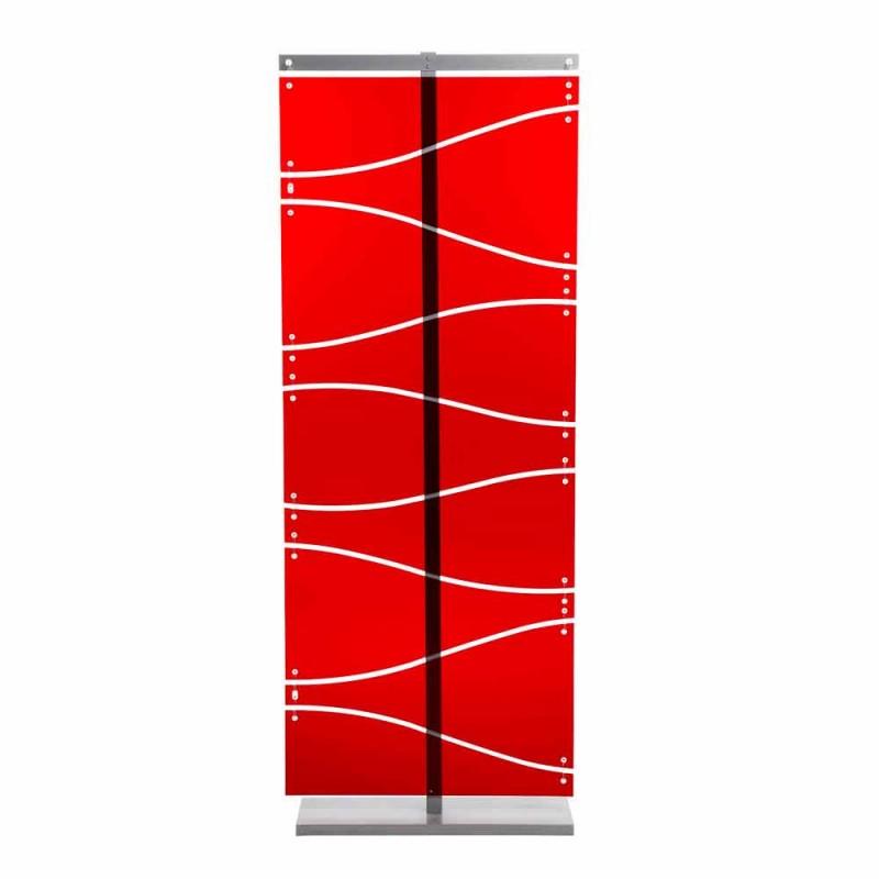 Cabina de diseño moderno en metacrilato de color rojo o satén Evelyn