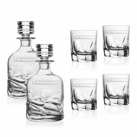 Servicio de whisky de cristal ecológico con logotipo personalizado - Titanio