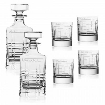 Servicio de whisky Crystal Eco, personalizable con logotipo, 6 piezas - Arritmia
