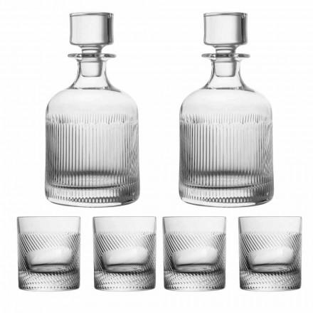 Juego de whisky de cristal ecológico de diseño de lujo de 6 piezas - Táctil