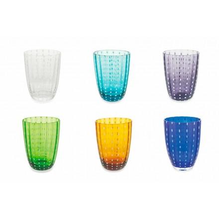 Conjunto de 6 vasos modernos de diseño de vidrio coloreado para agua - Botswana