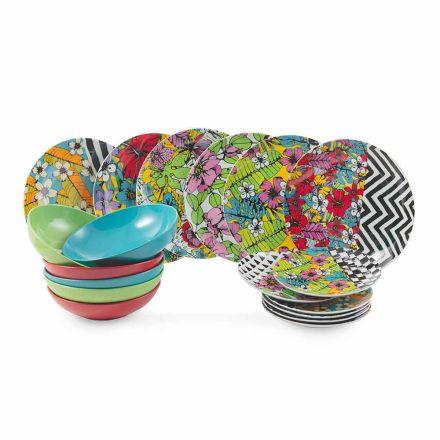 Juego de Vajilla de Porcelana de Color 18 Piezas - Puerto Rico