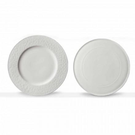 Platos de Servicio Diseño Gourmet en Porcelana Blanca 2 Piezas - Flavia
