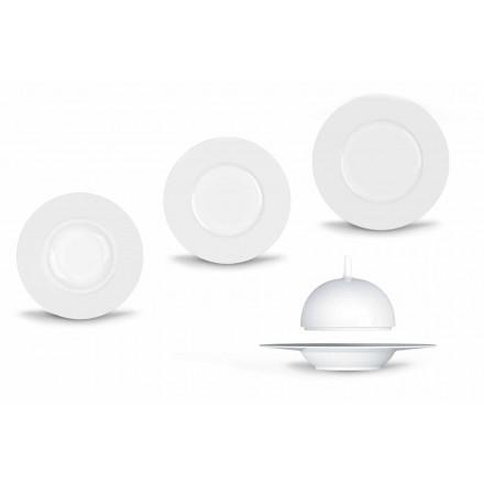 Moderno y elegante juego de vajilla en porcelana 24 piezas - telescopio