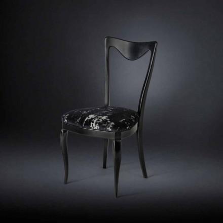 Set 2 sillas años 50 revestidas con tejido mixto Frida