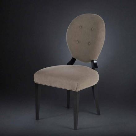 Set 2 sillas acolchadas con respaldo boutonné Sophia