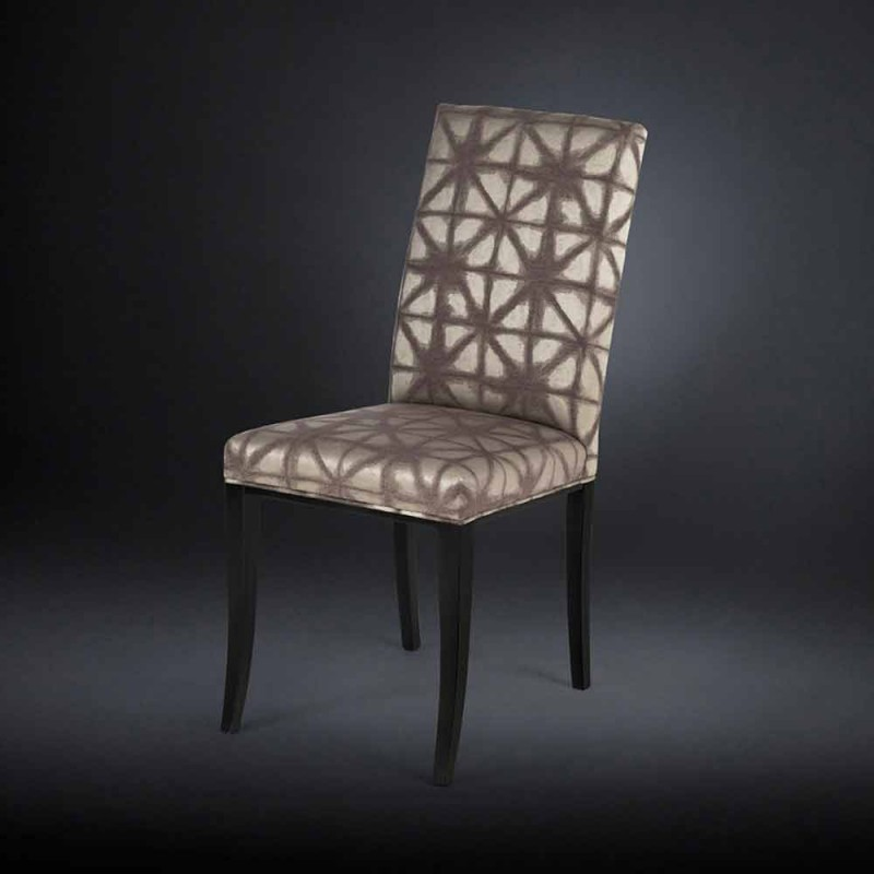 2 de septiembre modernas sillas tapizadas con patas de madera en negro Audrey