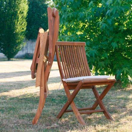 Sillas plegable de jardín de madera de teca
