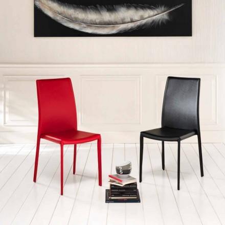 Set 4 sillas modernas de ecopiel revestidas modelo Gioia
