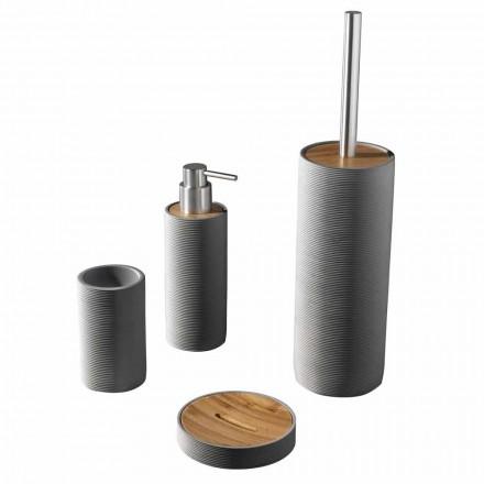 Conjunto de accesorios de baño de encimera en blanco o gris - resina Fox