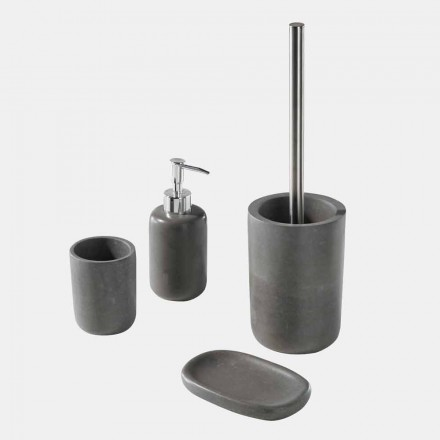 Juego de accesorios de baño independientes de resina gris - Pailette