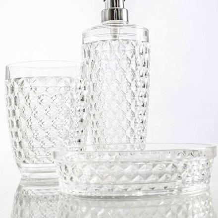 Set para baño dosificador + vaso + moderna jabonera Netro