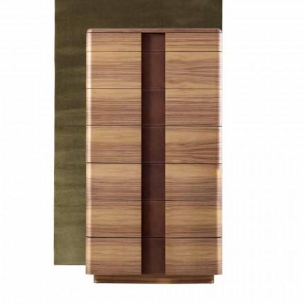 Semana en madera maciza moderna Grilli York hecha en Italia.