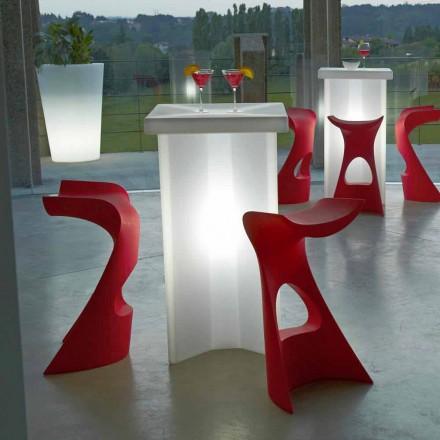 Taburete de alto color para exterior / interior Slide Koncord, hecho en Italia