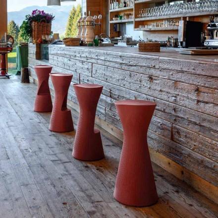 Taburete alto de jardín en polietileno coloreado Made in Italy - Desmond