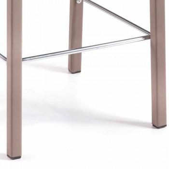 Taburete de bar Floyd / cocina H 96 cm, diseño moderno, hecho en Italia
