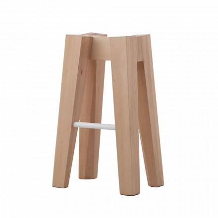 Taburete de cocina de madera maciza de haya de diseño alto o bajo - Cirico