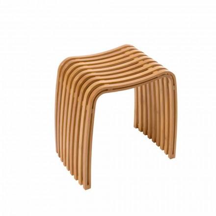 Taburete de diseño de bambú curvo en caliente Gorizia