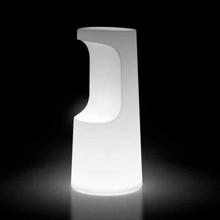 Taburete de exterior luminoso en polietileno con luz LED Made in Italy - Forlina
